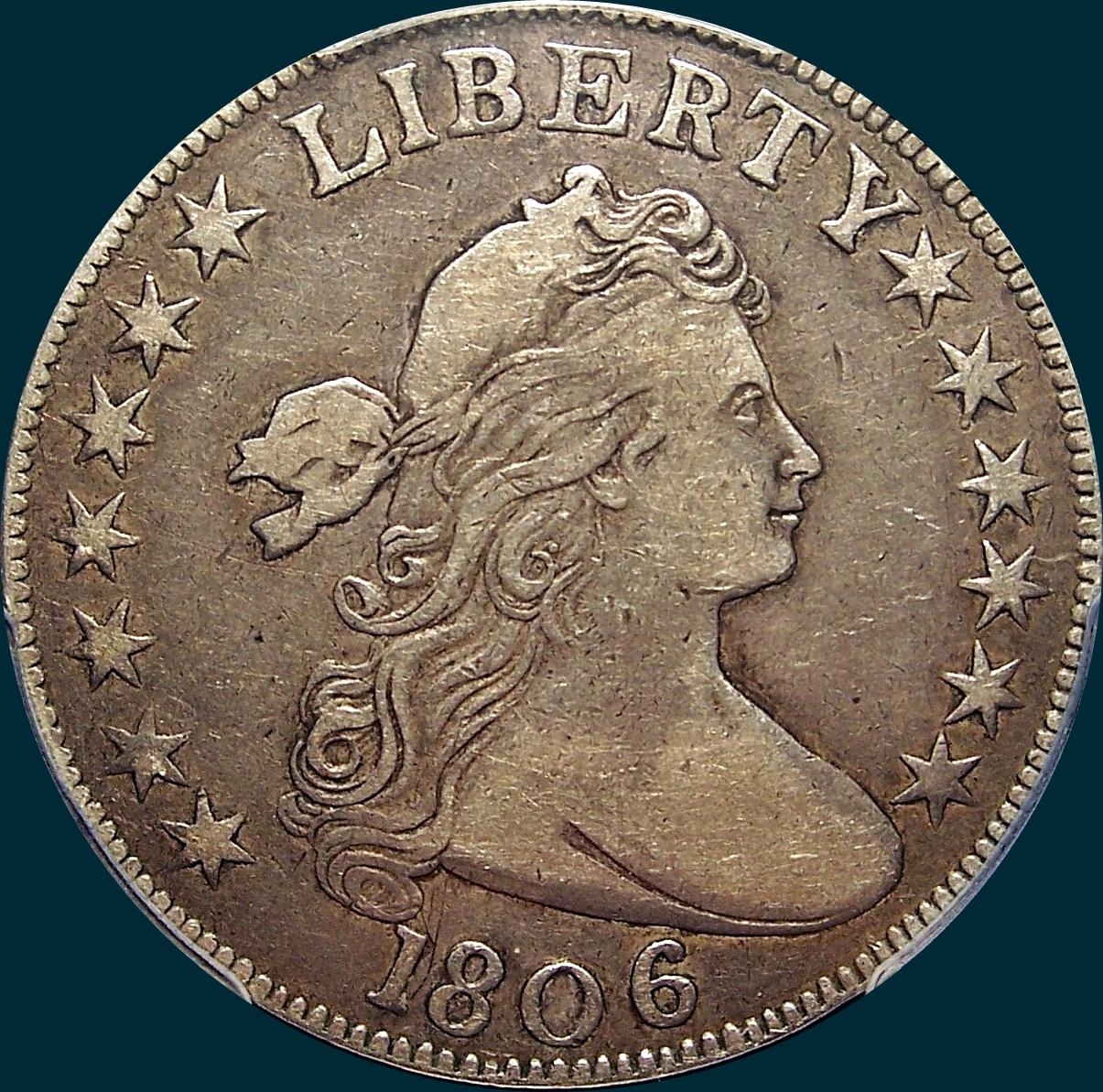 1806, O-107, Draped Bust, Half Dollar, Small Stars