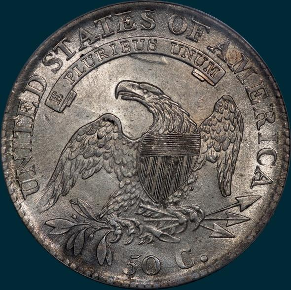 1813 O-108, capped bust half dollar