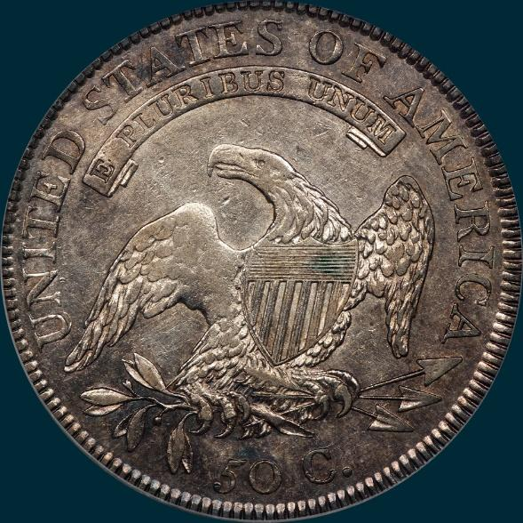 1809, O-101, capped bust. half dollar
