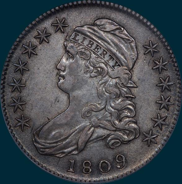 1809 O-111 capped bust half dollar