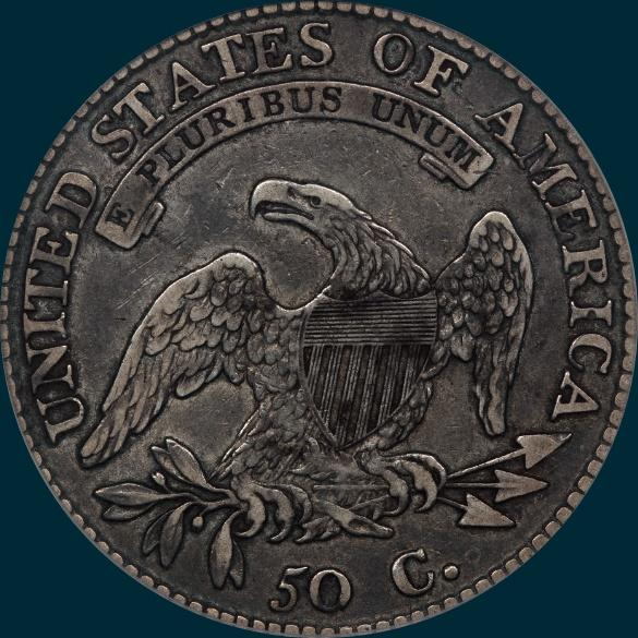 1812, O-101a, 2 over 1, 12/11, 2/1, 12 over 11, Large 8, Capped Bust Half Dollar