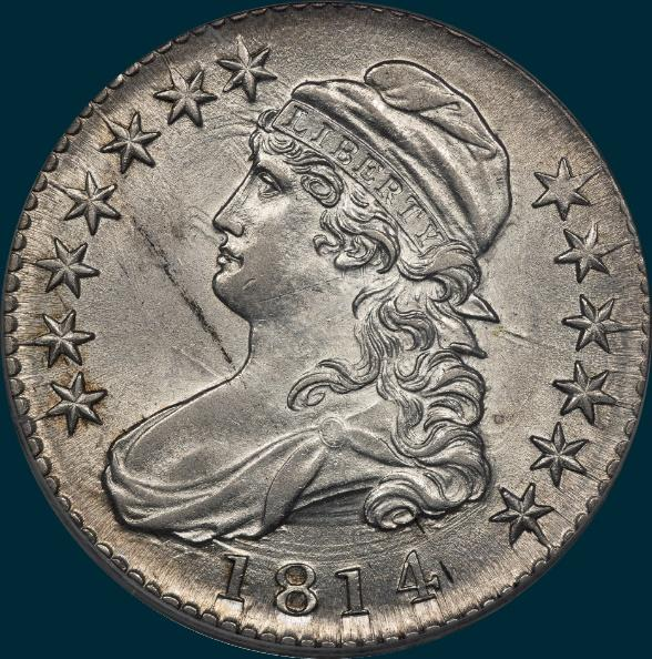 1814 o-107, capped bust half dollar