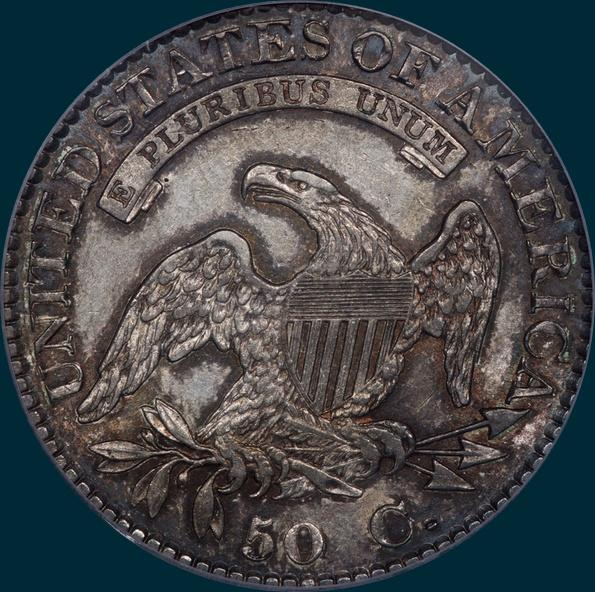 1824/1, O-102, Capped Bust, Half Dollar