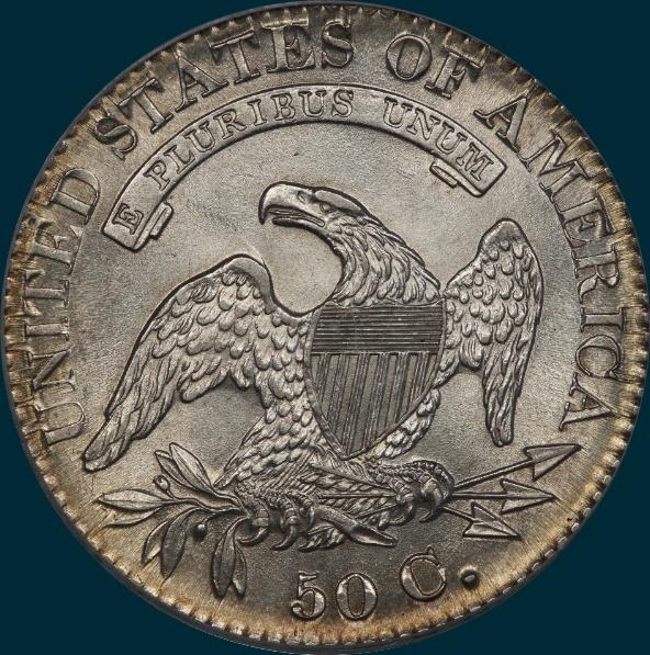 1826, O-111, Capped Bust, Half Dollar