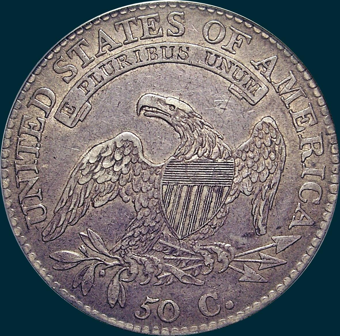 1813 O-102, Capped bust half dollar