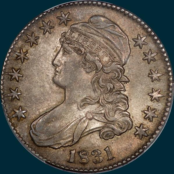 1831, O-101, Capped Bust, Half Dollar