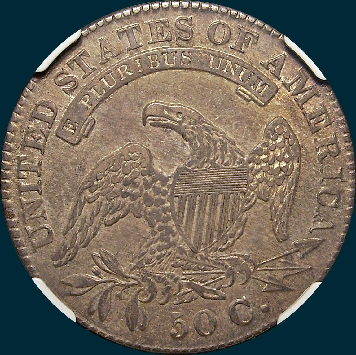 1830 O-108, small 0, capped bust half dollar