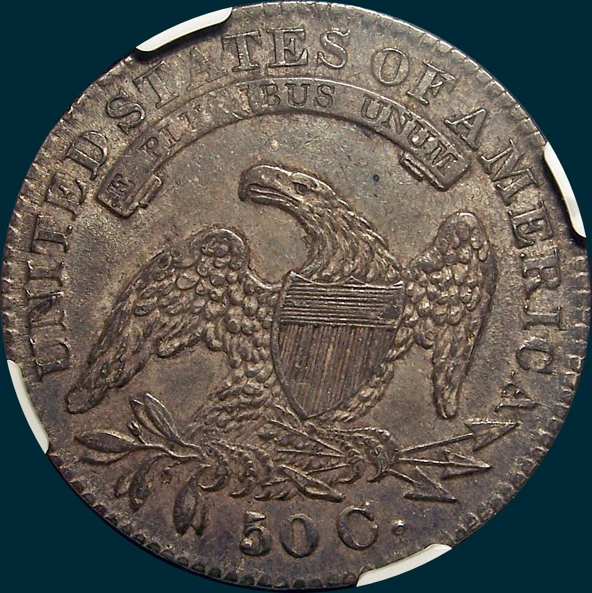 1832 O-110 capped bust half dollar