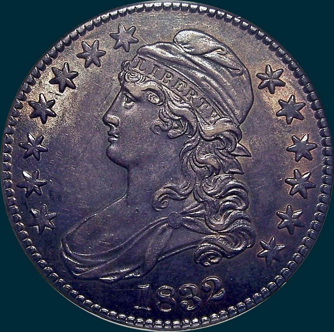 1832, O-107, Small Letters, Capped Bust, Half Dollar