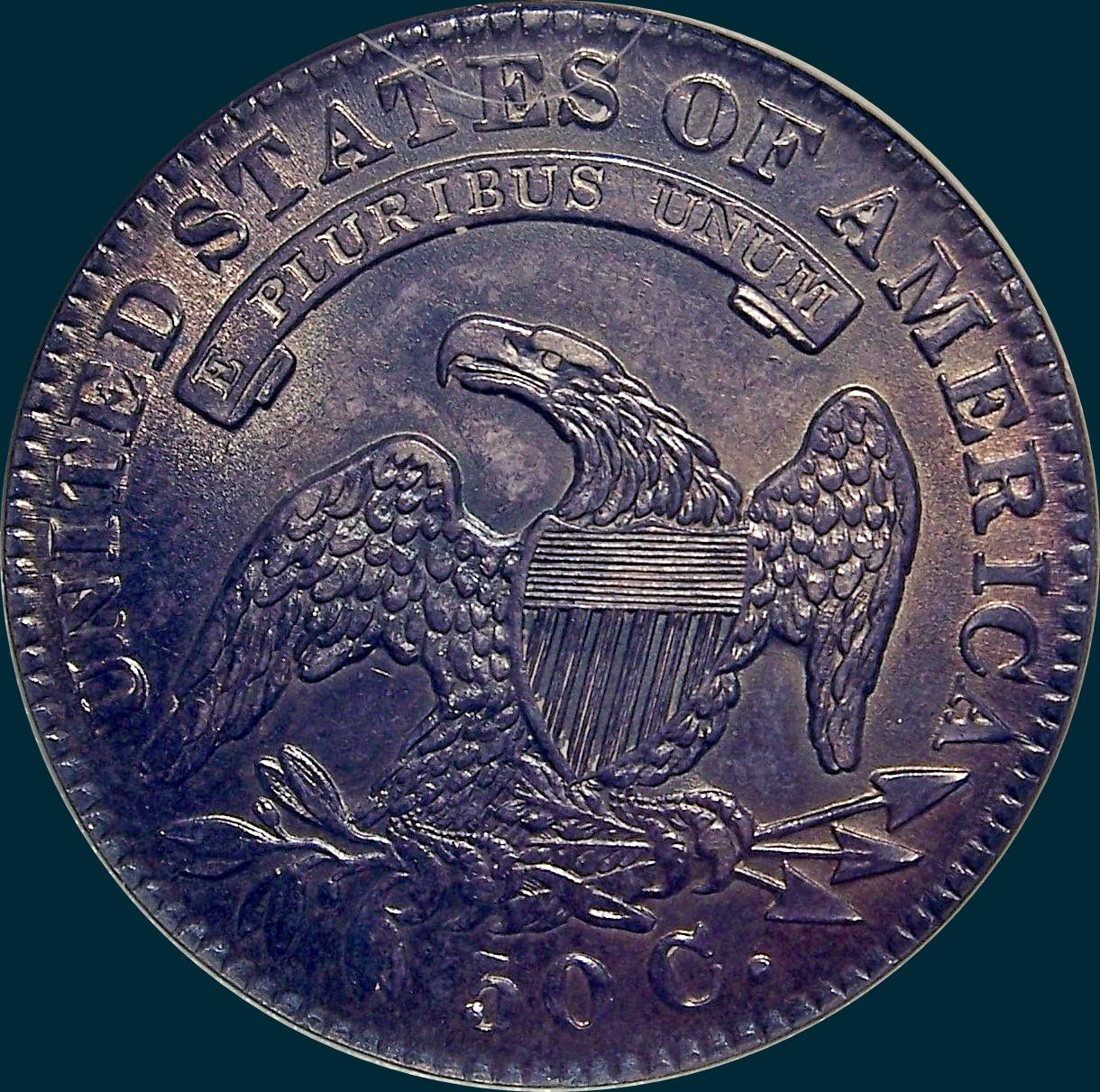 1832 O-107 capped bust half dollar