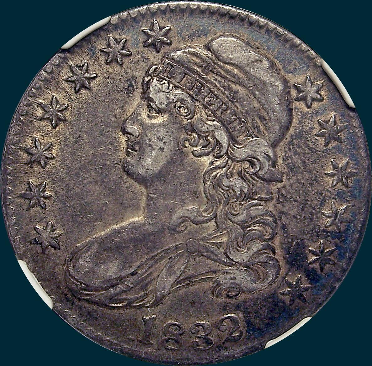 1832 O-112 capped bust half dollar