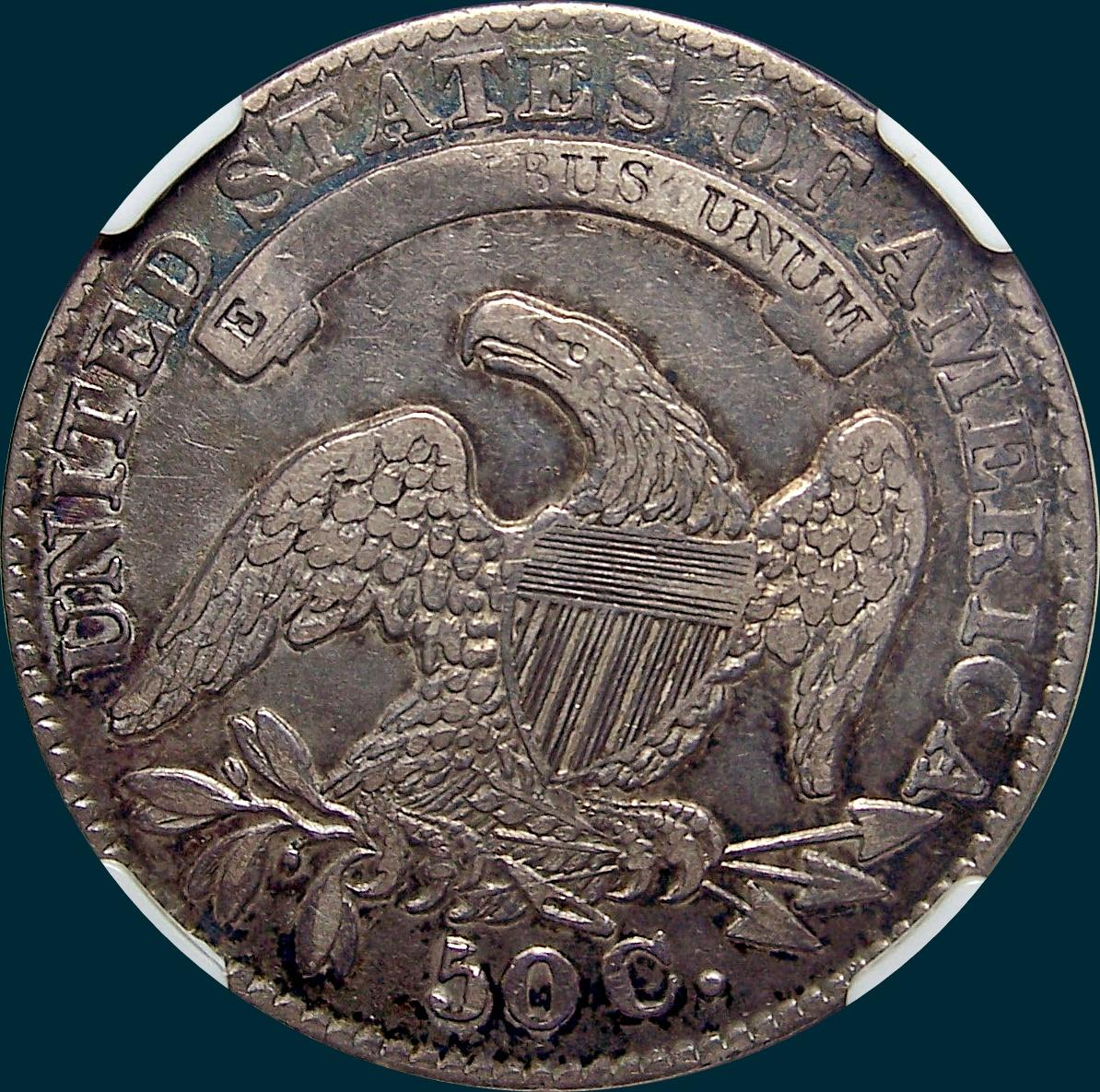 1832 O-114 capped bust half dollar