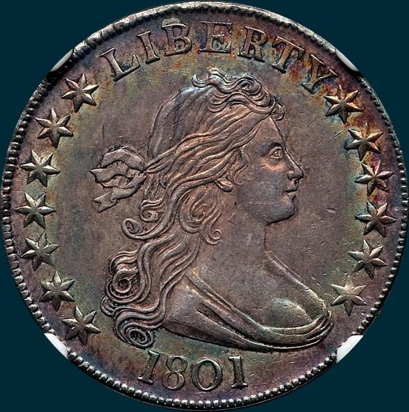 1801, O-102, R4+, Draped Bust, Half Dollar