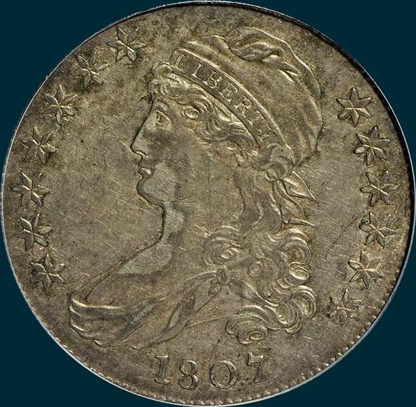 1807 O-111, Capped Bust, Half Dollar
