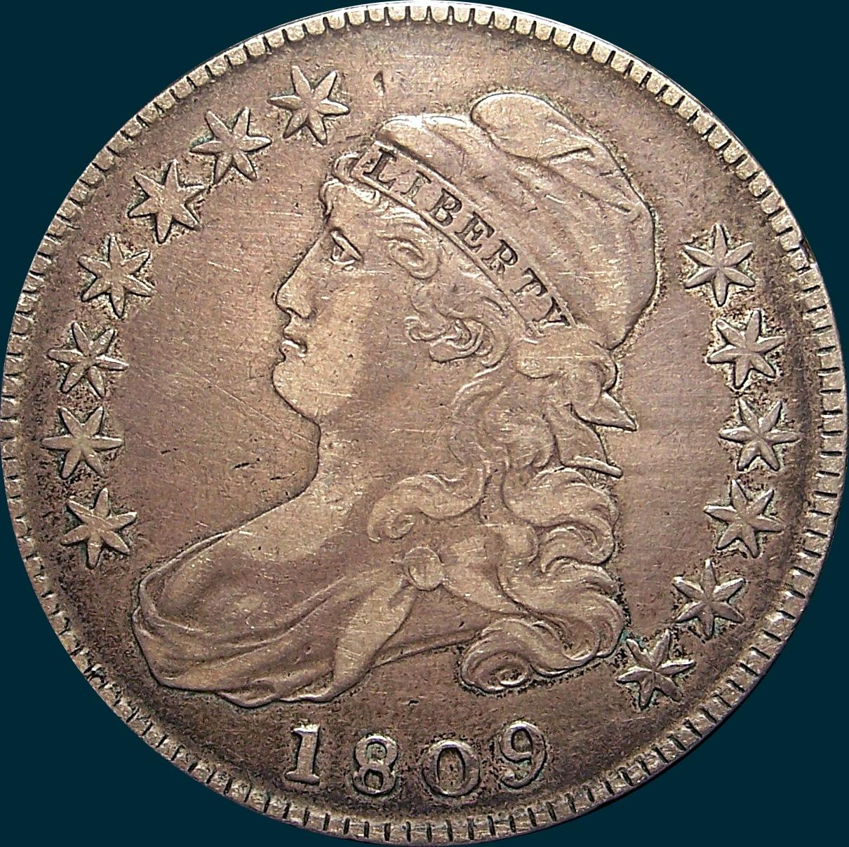 1809, O-102, XXXX Edge, Capped Bust, Half Dollar