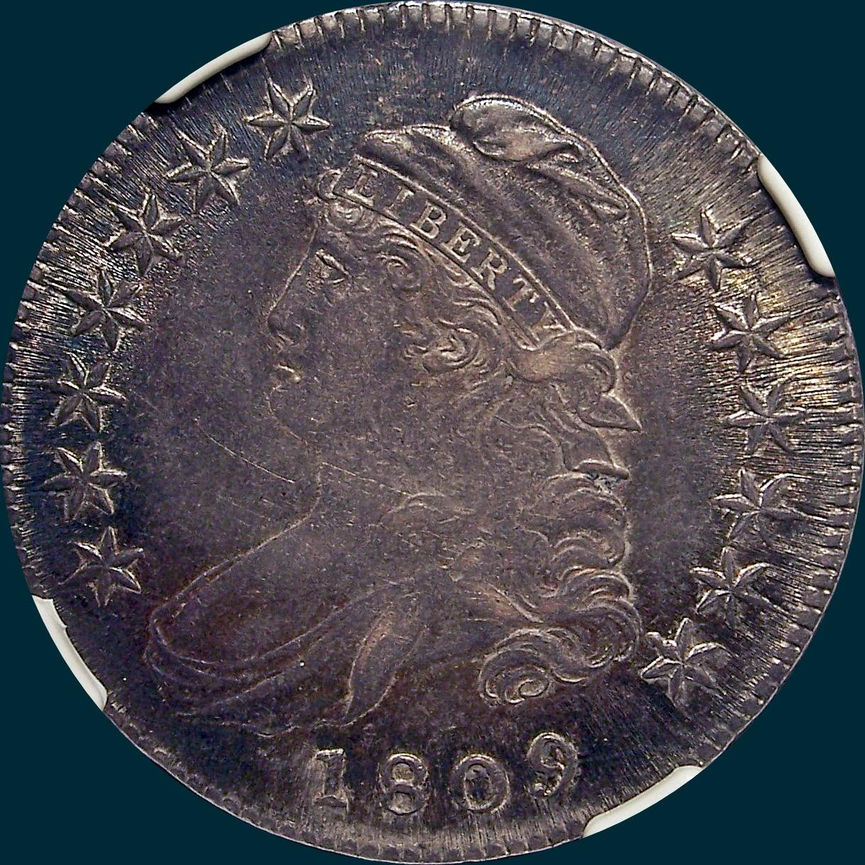 1809, O-103, capped bust, half dollar