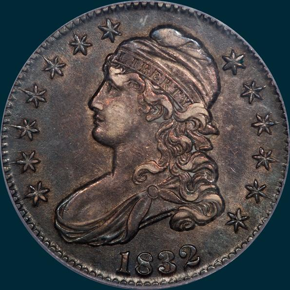 1832 O-106 capped bust half dollar