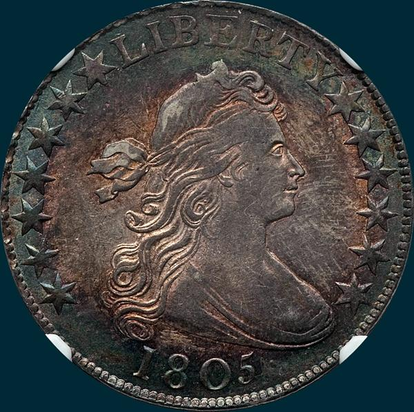 1805, O-106, Draped Bust, Half dollar