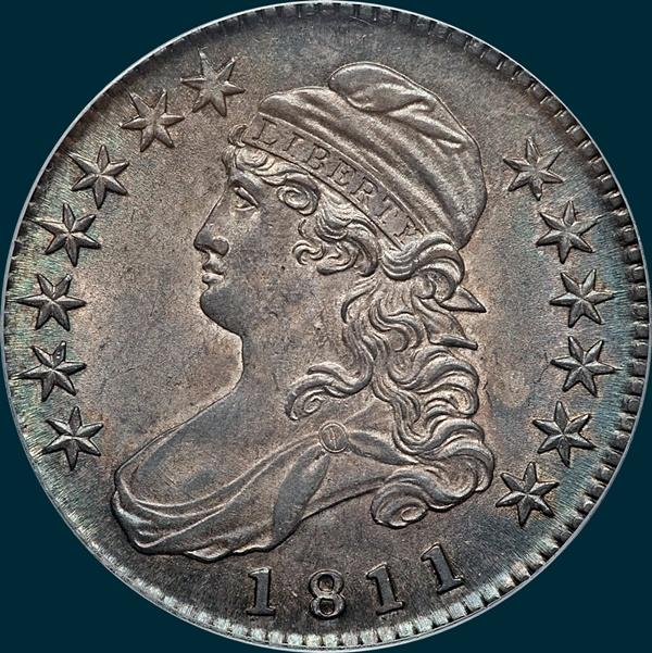 1811, O-105a, Small 8, Capped Bust, Half Dollar