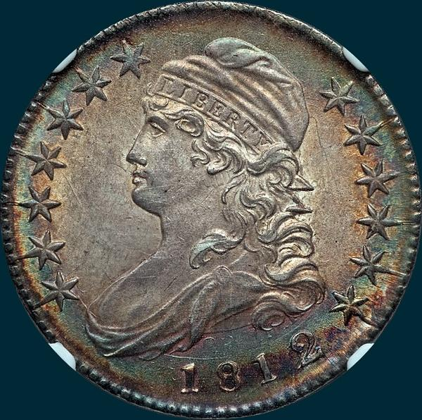 1812, O-102a, 2/1, or 12/11, 12 over 11, 2 over 1, Overdate, Small 8, Capped Bust, Half Dollar