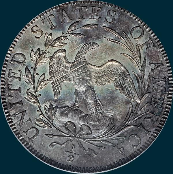 1796, O-102, R5+, Draped Bust, Half Dollar