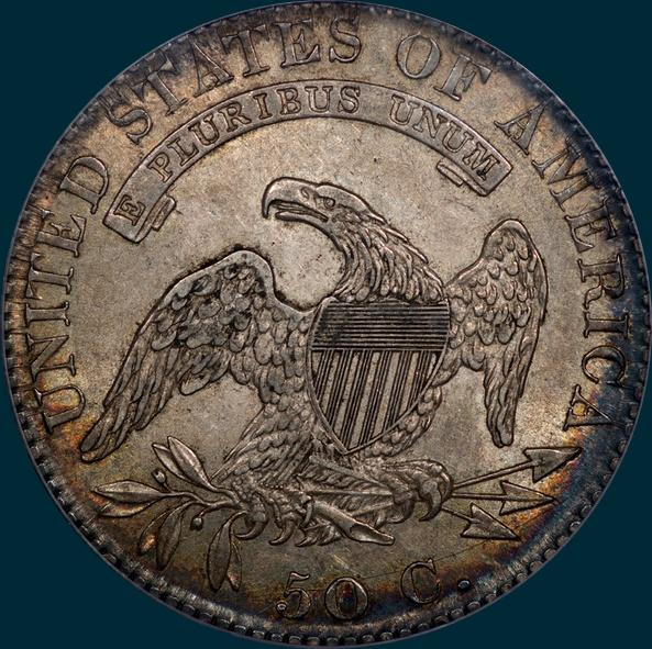 1820, O-104, capped bust, half dollar