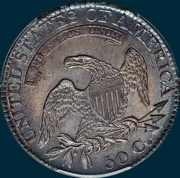 1825, O-116 capped bust half dollar