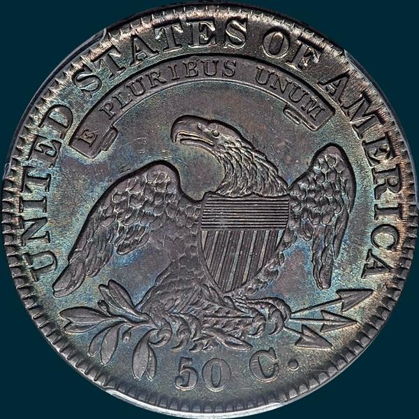 1832, O-118, Small Letters, Capped Bust, Half Dollar