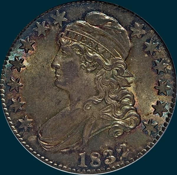 1832 O-119 capped bust half dollar