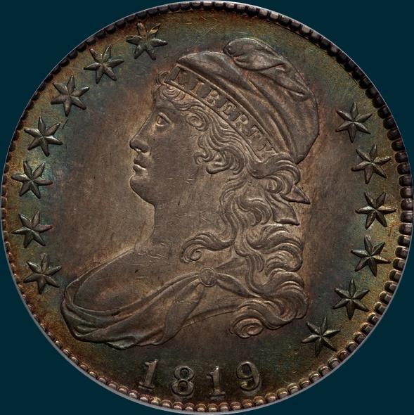 1819, O-110, Capped Bust, Half Dollar