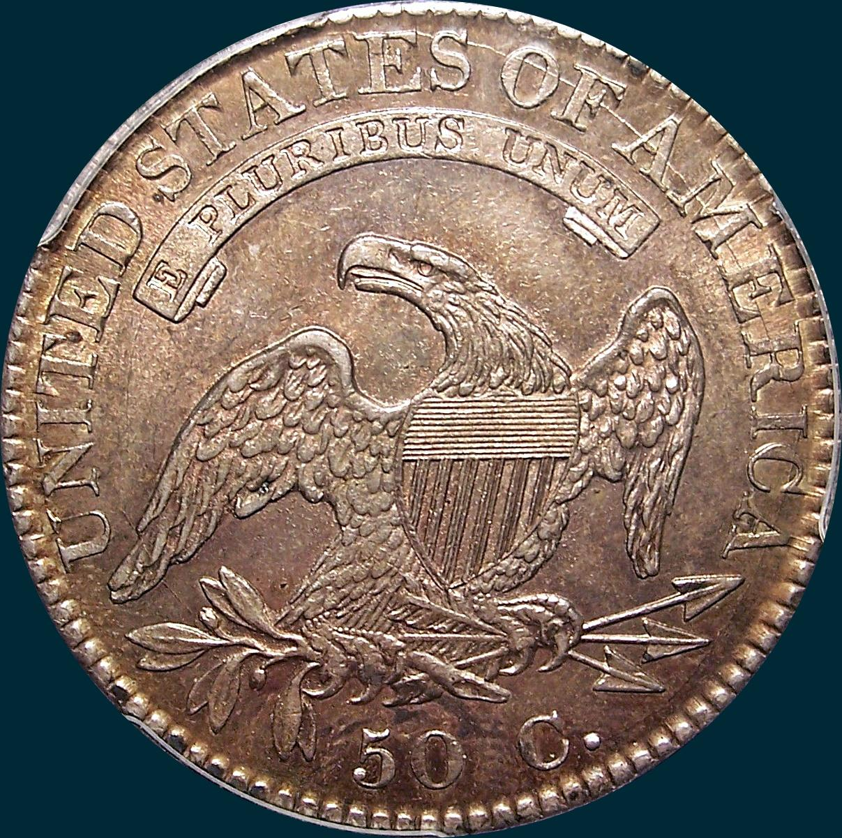 1822, O-105, Capped Bust, Half Dollar