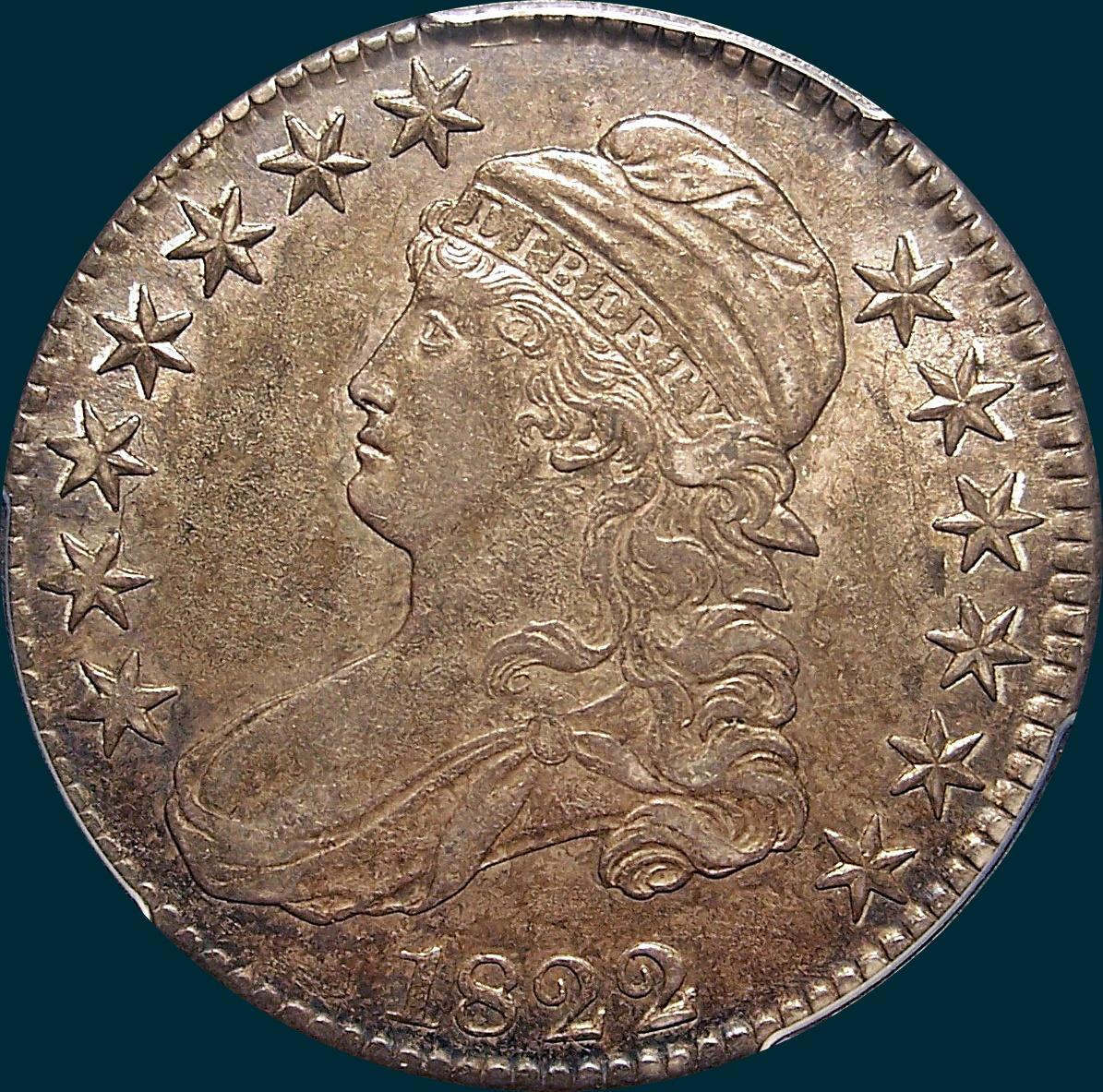 1822, O-106, Capped Bust, Half Dollar