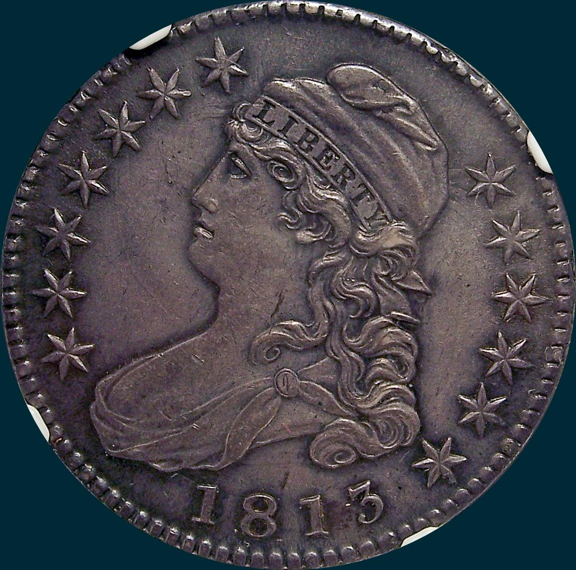 1813 O-105, Capped bust half dollar