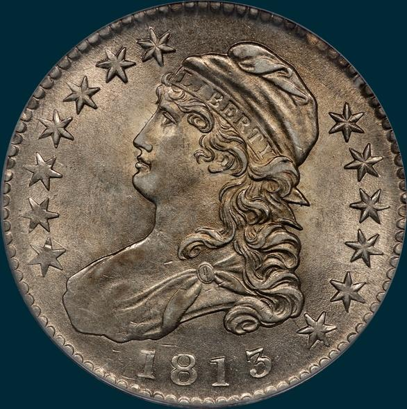 1813 O-106, Capped bust half dollar