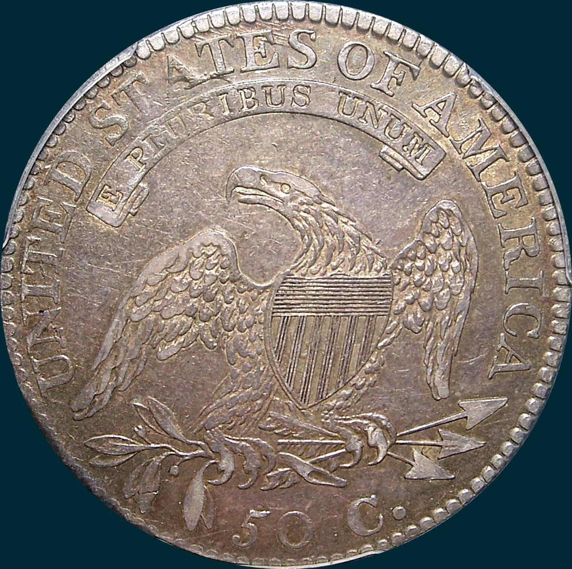 1813 o-110, capped bust half dollar
