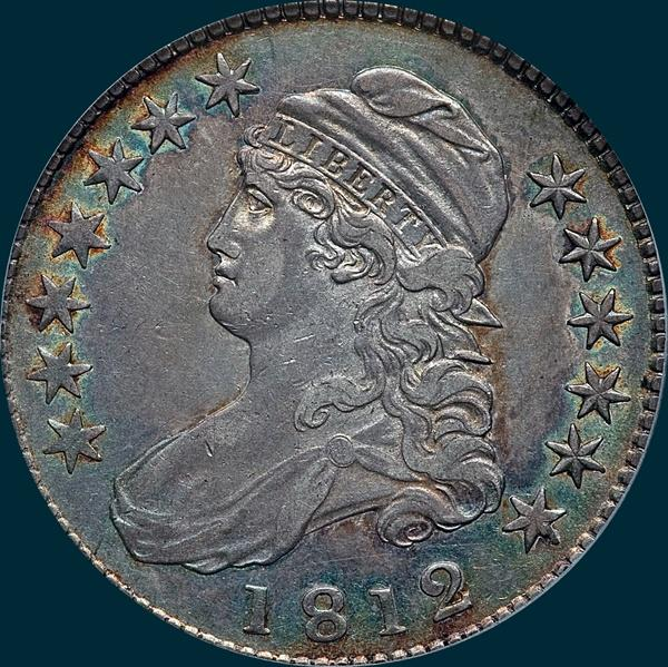 1812, O-109, Capped Bust, Half Dollar