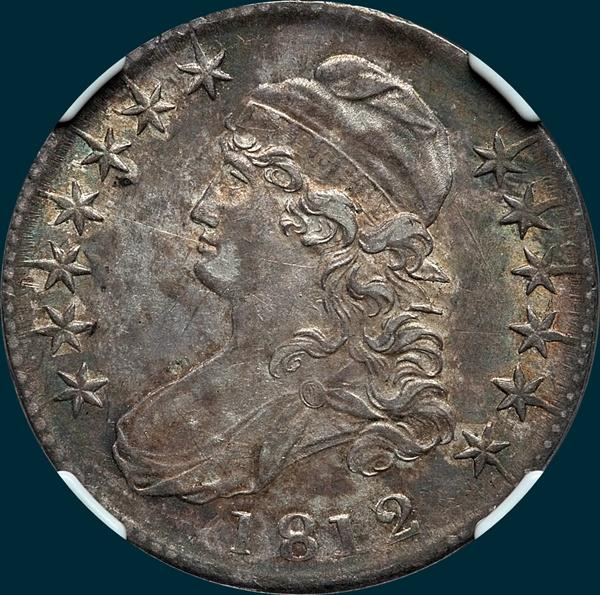 "1812, O-110b ""Single Leaf"", Capped Bust, Half Dollar"
