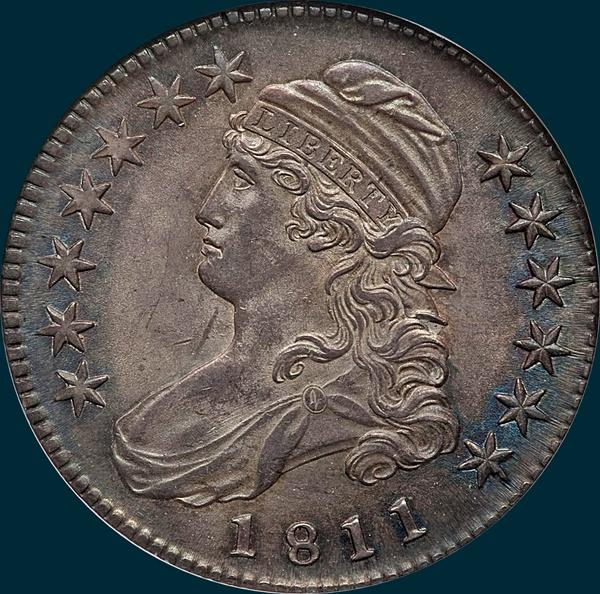 1811 o-110.small 8, capped bust half dollar
