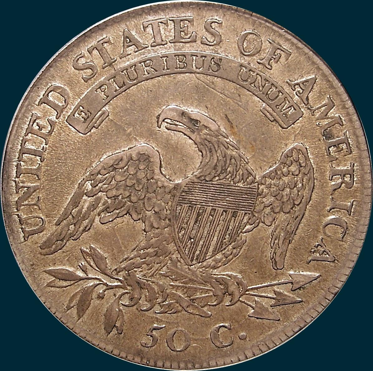 1811 O-103, Large 8, Capped bust half dollar