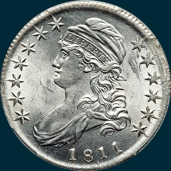 1811, O-102, 11 over 10 , Capped Bust, Half Dollar