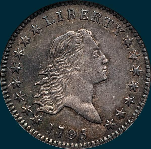 1795, O-120 Edge, Flowing Hair, Half Dollar