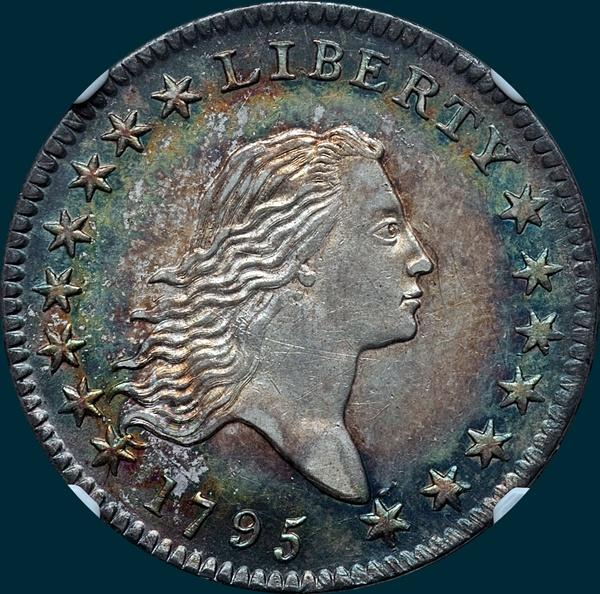 1795, O-119 Edge, Flowing Hair, Half Dollar