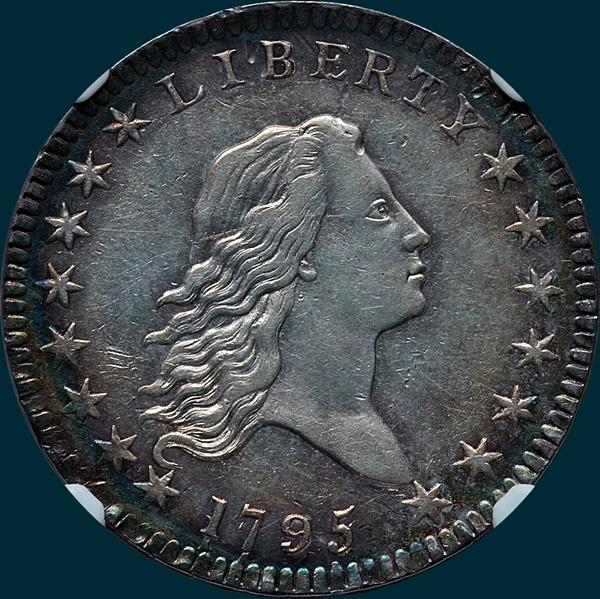 1795, O-111, Flowing Hair, Half Dollar