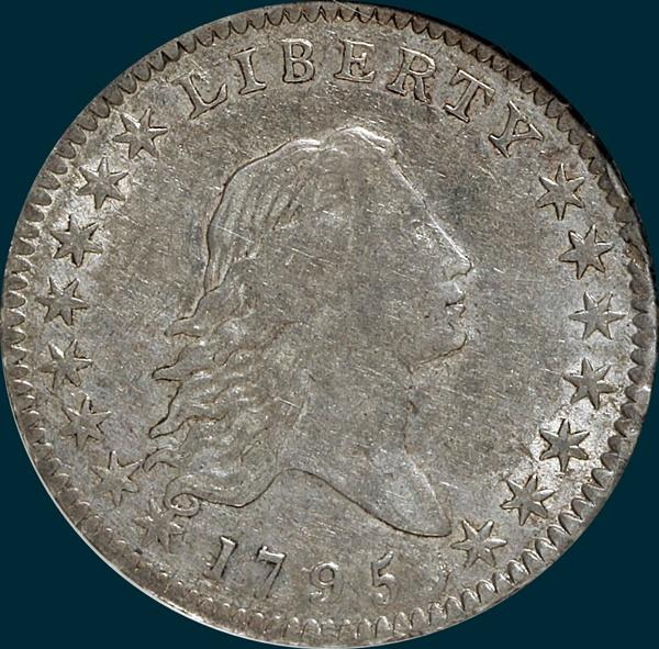 1795, O-113 Edge, Flowing Hair, Half Dollar