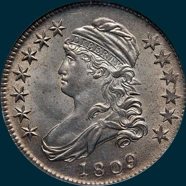 1809 O-115 capped bust half dollar