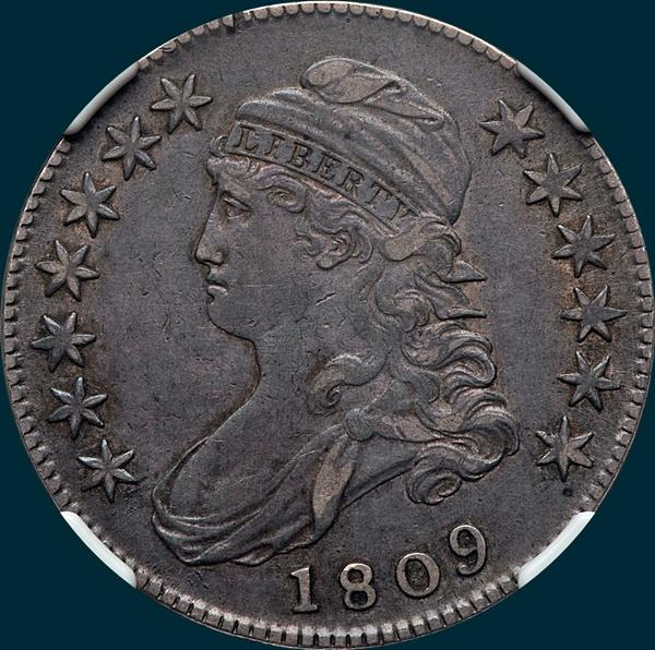 1809 O-114 capped bust half dollar