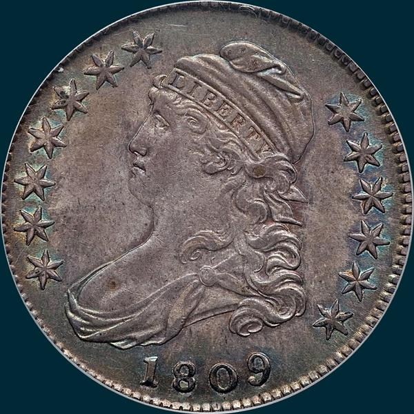 1809 O-112,Capped Buat, half dollar