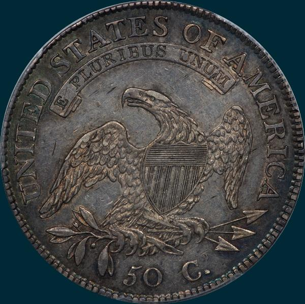 1809, O-109, IIII Edge, Capped Bust, Half Dollar