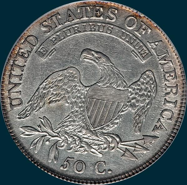 1809, O-108, IIII Edge, Capped Bust, Half Dollar