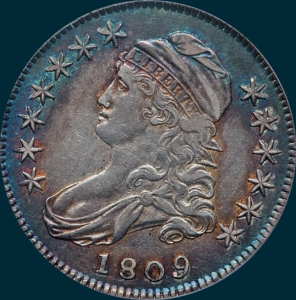 1809 O-104, Capped bust, half dollar